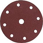 150mm slīppapīra diski ar 9 caurumiem, Koks un metāls